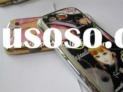 Plating SD doll Design Hard Rubber Case Cover For Samsung i9300 Galaxy S 3 III