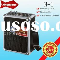 Popular Portable Battery Speaker/ Professional Active Stage Speaker With USB / SD Interface H-1