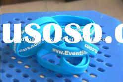 Promotional Light Blue Silicone Bracelet With Debossed Logo