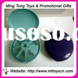 Promotional Weekly round pill box
