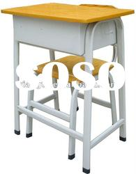 Pupil,fixed,wood and metal desks and chairs,in powder coated frame