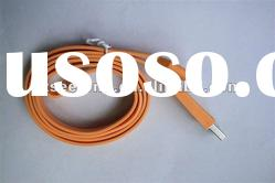 Ribbon Noodle Cord USB Data Charger Cable iPad 2 3st iPhone 3G 3GS 4G 4S Orange
