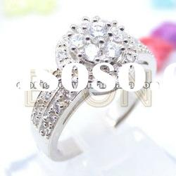 Romantic classic design refined workmanship fashion wholesale 925 silver ring jewelry (R5927)