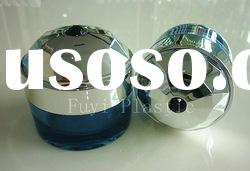 Round Acrylic Cream Jar,Cosmetic Container with Diamond Cap