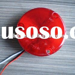 SAE 3 inch Amber LED Round Side Marker and Clearance Light for Truck and Trailer