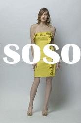 SK5790 fashional affordable yellow short evening dress under 100