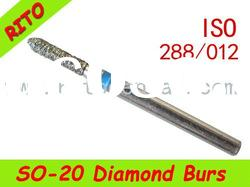 SO-20 Pointed Syinder Diamond Burs,Good Quality Dental Diamond Burs - Rito Dental Quality Products