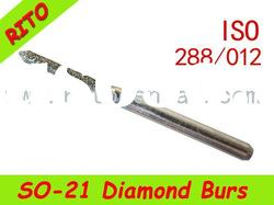 SO-21 Pointed Syinder Diamond Burs,Good Quality Dental Diamond Burs - Rito Dental Quality Products