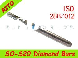 SO-S20 Pointed Syinder Diamond Burs,Good Quality Dental Diamond Burs - Rito Dental Quality Products