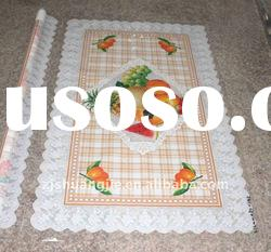 SPECIAL DESIGN! special dies transparent printed pvc tablecloth,plastic square tablecloth