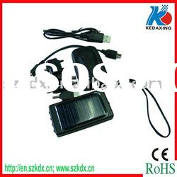 Solar emergency charger for mobile phone with torch