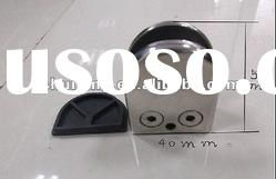 """Stainless Steel Glass Holder """"D"""" shape with flat base"""