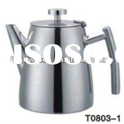 Stainless Steel double wall tea pot