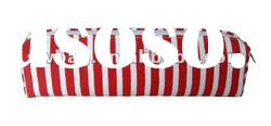 Stripe design fabric pencil bag case