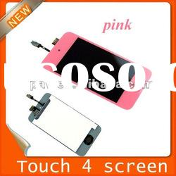 Touch Digitizer LCD Screen glass replacement Assembly for iPod Touch 4 4th Gen pink