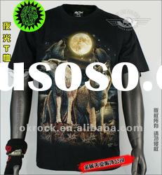 WHOLESALE LUMINES WOLF T SHIRTS GR-428 GLOW IN DARK T-SHIRTS