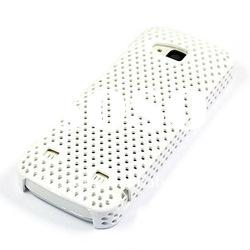 White Mesh Skin Hard Back Case Cover For Samsung i9000 Galaxy S