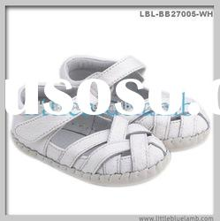 White cross design Baby Leather Shoes, baby sandals LBL-BB27005-BR
