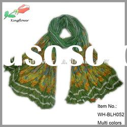 Wholesale fashion crinkle floral shawls and scarves