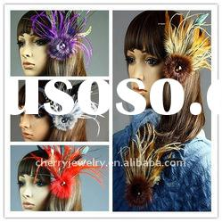 Wholesale mix feather clip fashion feather brooch feather hairpin 20*12cm hair accessories