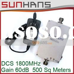 Wholesale price DCS 1800MHz Booster 60dB cover 500sq meters Mobile/cell phone Signal Repeater