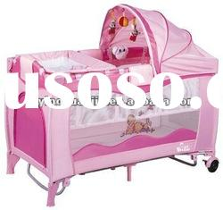 With competitive price baby cot bed baby crib baby playpen