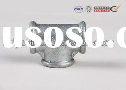 beaded with rib galvanized tee DIN standards cast iron pipe fitting