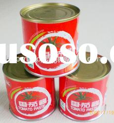 best seller canned tomato paste canned tomato sauce 198g brix 28-30%