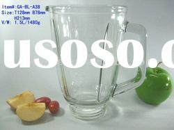 blender glass jar replacement part GA-BL-A38, capacity 1500ml