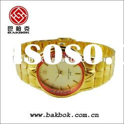 classic lady watch with stainless steel band BK - 0114