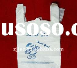 clear plastic t-shirt bag for shopping