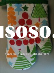 colorful pattern oven mitt/glove for different design, customized material