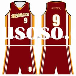 cool-dry fabric fashion blank basketball uniform basketball kit