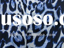 cotton/spandex leopard printed fabric,cotton sateen print fabric