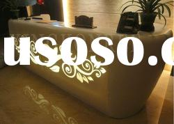 customize acrylic solid surface reception desk