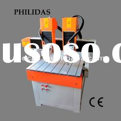 double heads mini cnc wood cutting machine