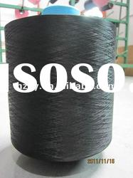 dty polyester textured yarn dope dyed black