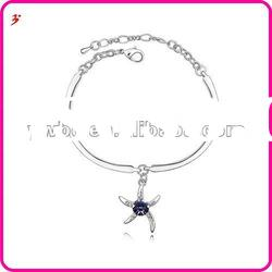 fashion alloy crystal star bangle women jewelry(B100953)