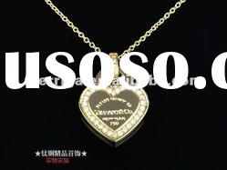 fashion jewelry stainless steel heart necklace