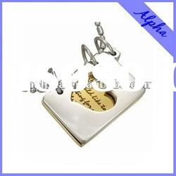 fashion stainless steel pendant jewelry with book designs