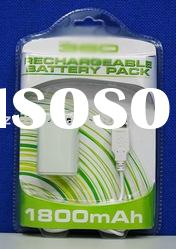 for XBOX 360 1800mAH Rechargeable battery pack