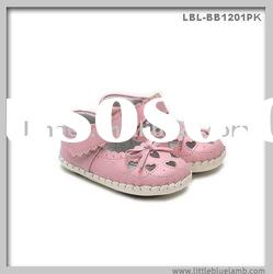 hand-made 100% genuine leather baby shoes LBL-BB1201PK