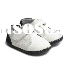 handsome boy's 100% genuine leather soft soled baby shoes for Christmas LBL-BB27006-WH
