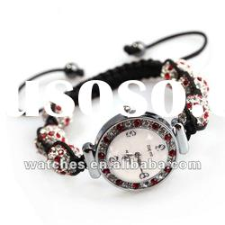 high quality fashion swarovski crystal beads shamballa watch