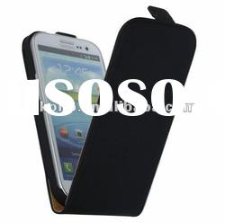 high quality leechee pattern flip leather case for galaxy s3 i9300