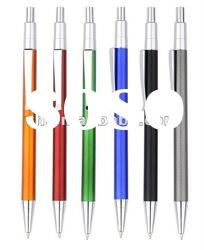 hot sale silm barrel plastic ball pen for promotion