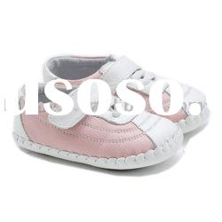 hot selling hand-made leather soft soled baby shoes for Christmas LBL-BB21003PK