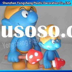lovely plastic smurfs action figures/plastic cartoon action figures