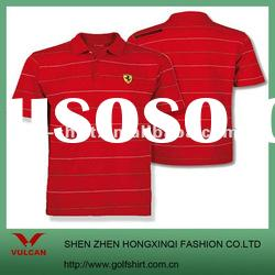 men's red polo shirt made of dry fit material