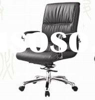 metal frame medium back of leather office swivel Chair